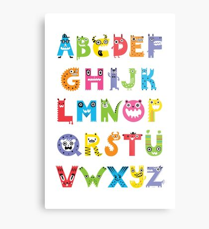 Alphabet Monsters poster Metal Print