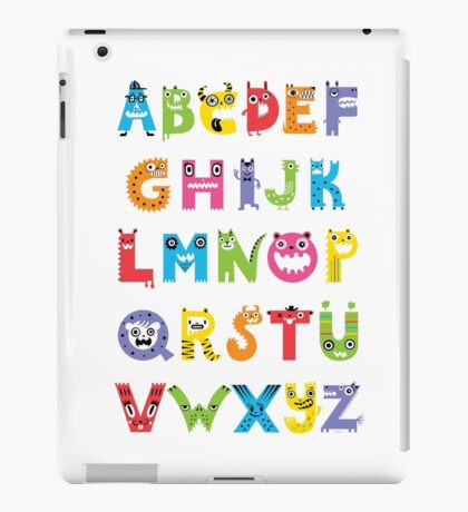 Alphabet Monsters poster iPad Case/Skin