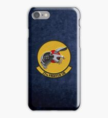 27th Fighter Squadron - 27 FS over Blue Velvet iPhone Case/Skin