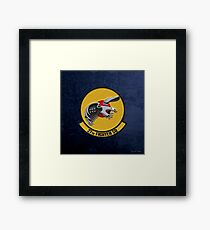 27th Fighter Squadron - 27 FS over Blue Velvet Framed Print