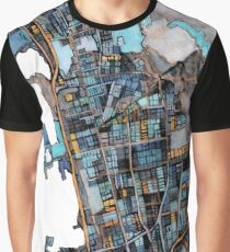 Abstract Map of Berkeley CA Graphic T-Shirt
