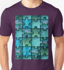Puzzle Pearl Green Blue Unisex T-Shirt