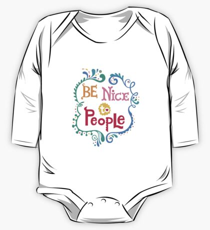 Be Nice To People Kids Clothes