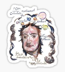 Isaac Newton Picture Quote - Madness of a Multitude Sticker