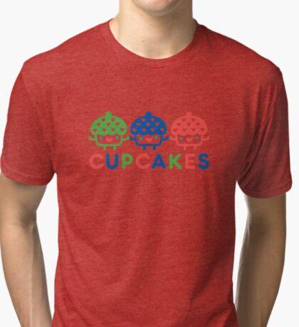 Cupcake Fun primary Tri-blend T-Shirt