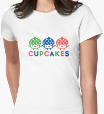 Cupcake Fun primary Womens Fitted T-Shirt