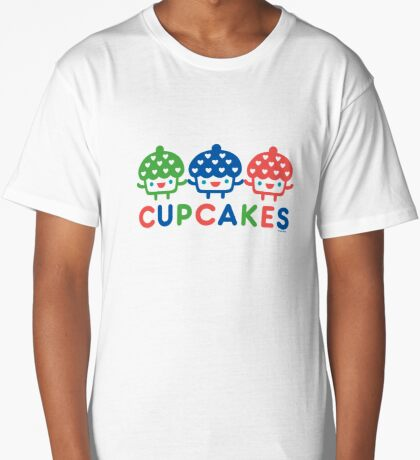 Cupcake Fun primary Long T-Shirt