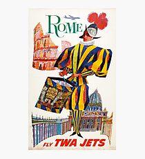 Vintage Rome Travel Swiss Guard Photographic Print