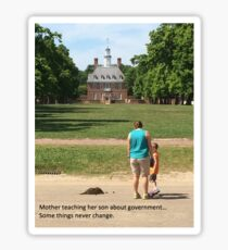 Colonial Williamsburg History Lesson Sticker