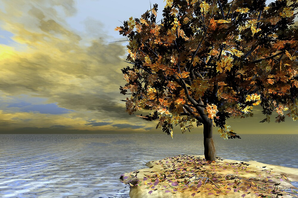 Lonesome Autumn by Lisa  Weber