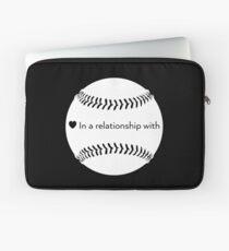 Relationship Status: Baseball (White) Laptop Sleeve