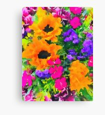 Flowers From Family Canvas Print