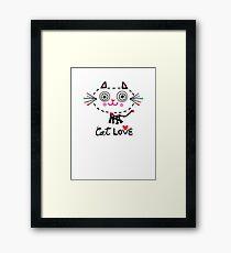 Cat Love - heart Framed Print