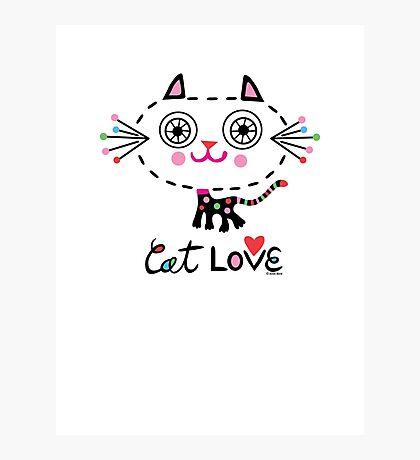 Cat Love - heart Photographic Print