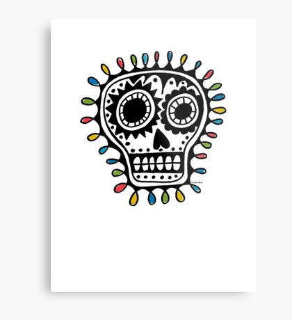 Sugar Skull - sharpie Metal Print