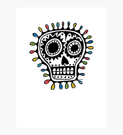 Sugar Skull - sharpie Photographic Print