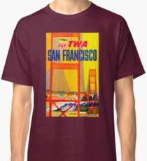 Vintage Airline San Francisco Golden Gate Travel Classic T-Shirt