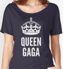 Queen Lady Gaga White Women's Relaxed Fit T-Shirt