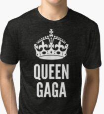 Queen Lady Gaga White Tri-blend T-Shirt