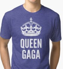 Queen Lady Gaga White Tri-blend T-Shirt