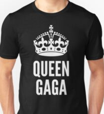 Queen Lady Gaga White Unisex T-Shirt