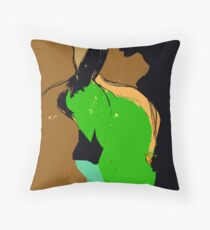 Woman and Man. Throw Pillow