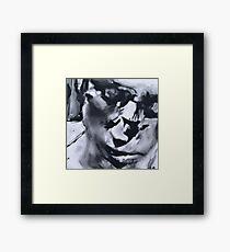 Spilt - Abstracted Face Oil Painting Framed Print