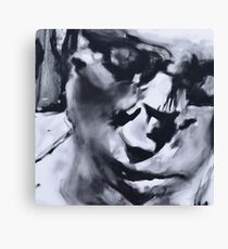 Spilt - Abstracted Face Oil Painting Canvas Print