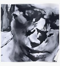 Spilt - Abstracted Face Oil Painting Poster