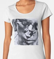 Spilt - Abstracted Face Oil Painting Women's Premium T-Shirt