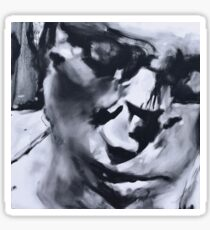 Spilt - Abstracted Face Oil Painting Sticker
