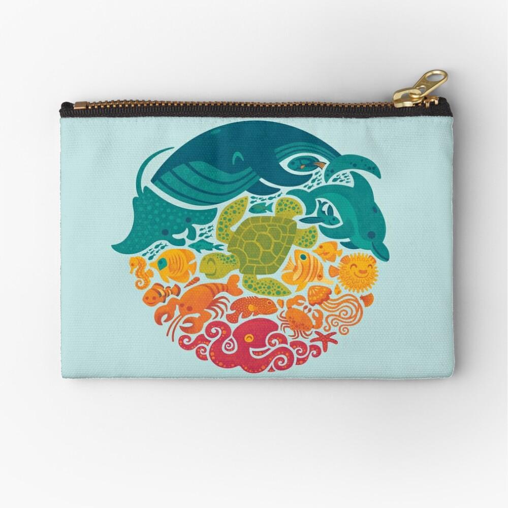 Arco iris acuático (azul claro) Bolsos de mano