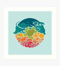 Aquatic Rainbow (hellblau) Kunstdruck