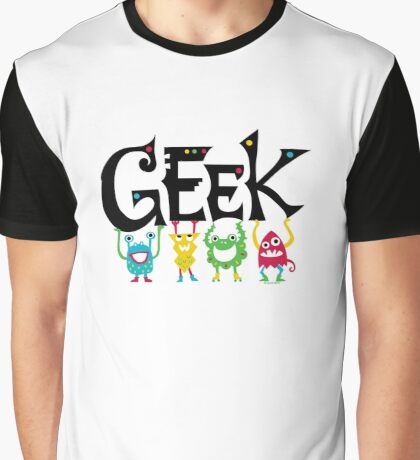 Geek Monsters Graphic T-Shirt