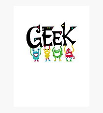 Geek Monsters Photographic Print