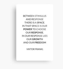VIKTOR FRANKL QUOTE  Metal Print