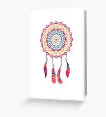 Indian mandala, yoga, meditation. Greeting Card
