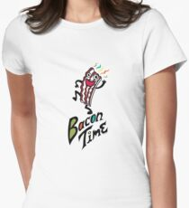 Bacon Time Womens Fitted T-Shirt