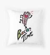 Bacon Time Throw Pillow