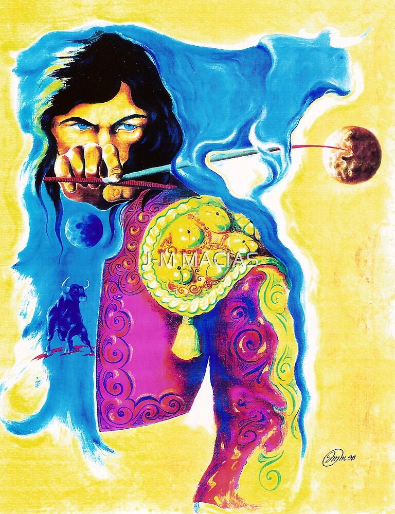 Blue Bull by J-M MACIAS