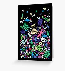 Colorful Night Paradise Greeting Card