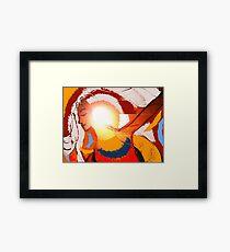 illumination in colour. Framed Print