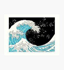Kanagawa-Welle Kunstdruck