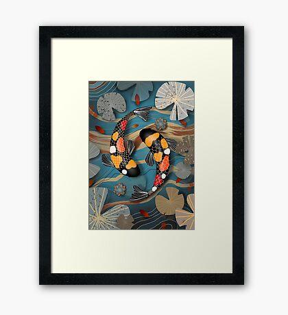 Koi Watergarden Framed Print