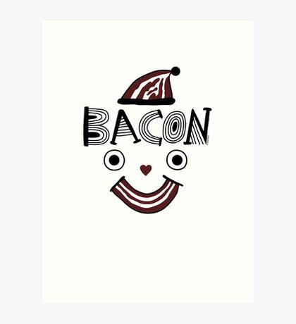 Bacon Face Art Print