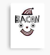 Bacon Face Metal Print