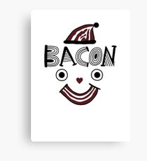Bacon Face Canvas Print
