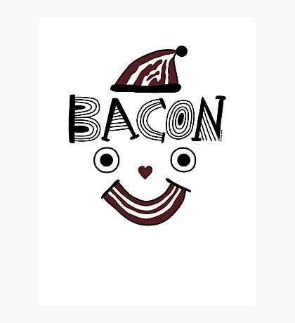 Bacon Face Photographic Print
