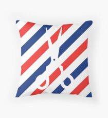 Barber Scissors Throw Pillow