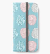 Brainy Pastel Pattern (Awesome Pastel Brains) iPhone Wallet/Case/Skin